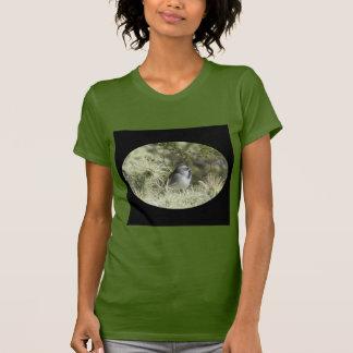 Black-Throated Sparrow on Cactus T-Shirt