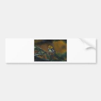 Black throated warbler bumper sticker