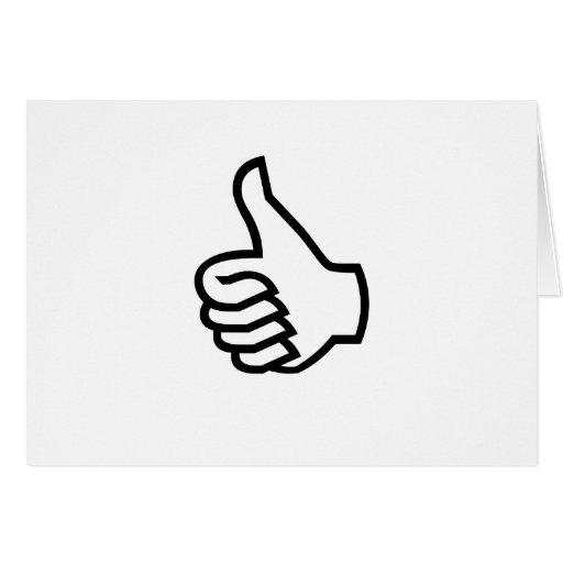 Black Thumbs Up Greeting Card