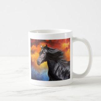 """""""Black Thunder"""" Black Horse Mug"""