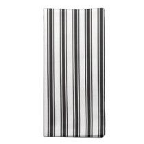 Black Ticking Stripe Pattern Cloth Napkin
