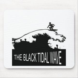 BLACK TIDAL WAVE MOUSE PADS