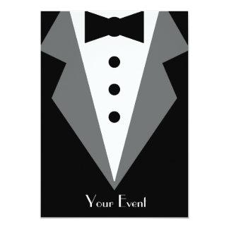 Black Tie Affair 5x7 Paper Invitation Card