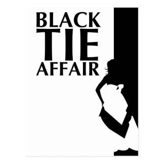 black tie affair : beautiful silhouette postcard