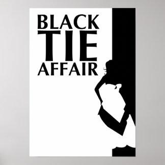 black tie affair : beautiful silhouette poster