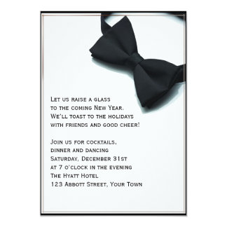 Black Tie Affair New Years Eve 5x7 Paper Invitation Card