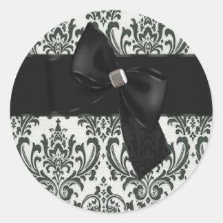 Black Tie Affair Seal/Sticker Classic Round Sticker