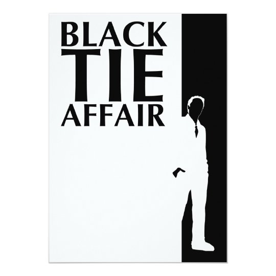 black tie affair : serious silhouette card