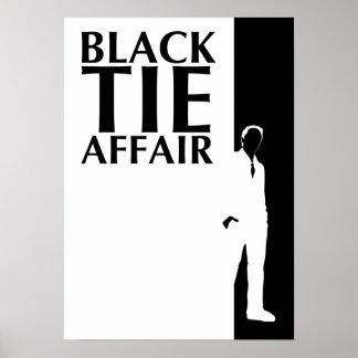 black tie affair : serious silhouette poster