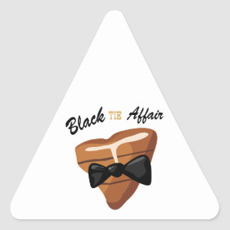 Black Tie Affair Triangle Sticker