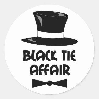 BLACK TIE AFFAIR CLASSIC ROUND STICKER
