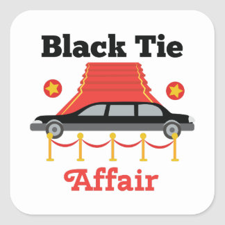 Black Tie Affair Square Sticker