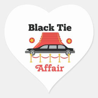Black Tie Affair Heart Sticker