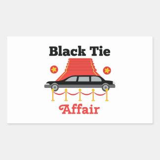Black Tie Affair Rectangular Sticker