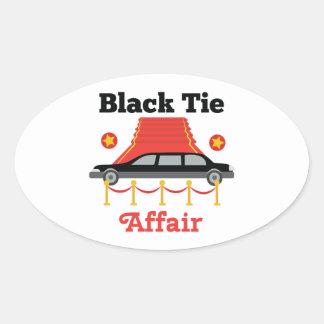 Black Tie Affair Oval Sticker