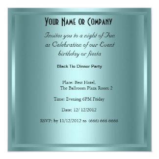 Black Tie birthday Party Invitation