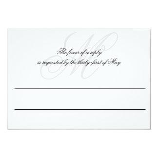 Black Tie   Black White   Wedding RSVP Card