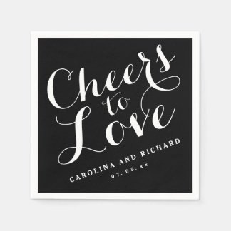 Black Tie Cheers to Love | Wedding Napkins
