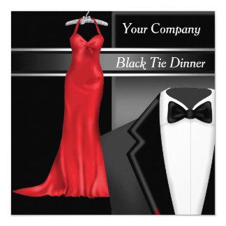 Black Tie Corporate Dinner Party 5.25x5.25 Square Paper Invitation Card