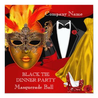 Black Tie Corporate Formal Masquerade Ball 2 Card