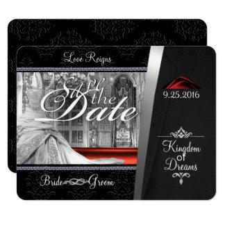 Black Tie Diamond Save the Date Card