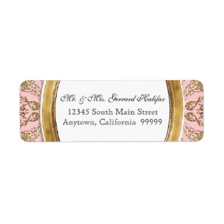 Black Tie Elegance 2 Golden Matching Address Label