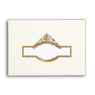 Black Tie Elegance 2, Golden Matching Envelopes