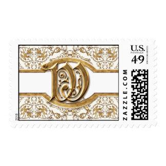 Black Tie Elegance 2 Golden Matching Stamp Postage