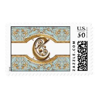 Black Tie Elegance 2 Golden Matching Stamp Postage