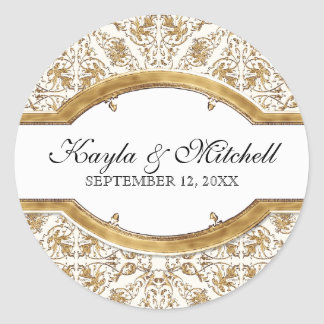 Black Tie Elegance 2, Golden Matching Sticker Seal