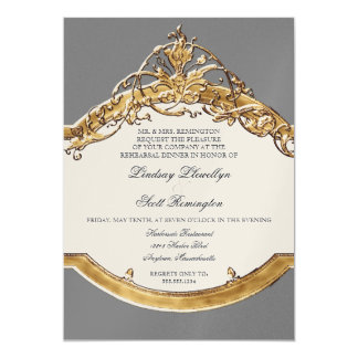 Black Tie Elegance 2, Golden Rehearsal Dinner Card