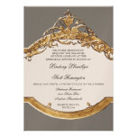 Black Tie Elegance 2, Golden Rehearsal Dinner Personalized Announcements