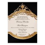 Black Tie Elegance 2, Golden Rehearsal Dinner Personalized Invites