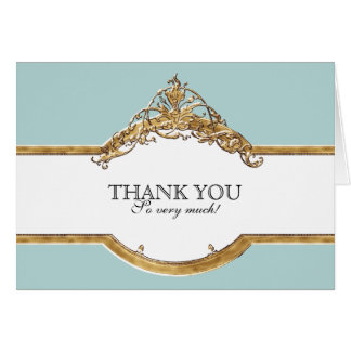Black Tie Elegance 2, Golden Thank You Note Cards