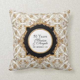 Black Tie Elegance 2 Golden Wedding Anniversary Pillows