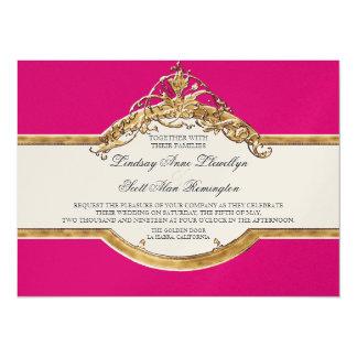 "Black Tie Elegance 2, Golden Wedding Invitations 5.5"" X 7.5"" Invitation Card"