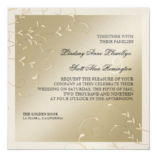 Black Tie Elegance, Champagne Cream Wedding Cards