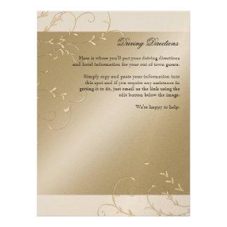 Black Tie Elegance, Champagne Cream Wedding Cards