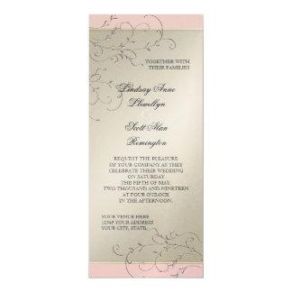 Black Tie Elegance, Champagne Silver Wedding Card