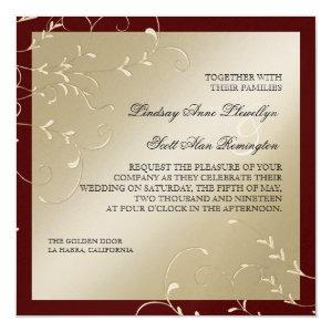 Black Tie Elegance Champagne Wine Wedding Cards 5.25