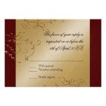 Black Tie Elegance, Golden RSVP Response Card