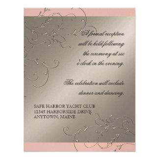 Black Tie Elegance Reception Invitations