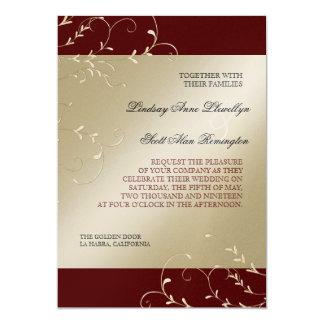 Black Tie Elegance, Red Burgundy Wedding Cards