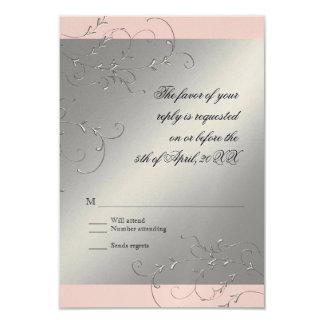 Black Tie Elegance, RSVP Response Card Personalized Invites