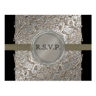 Black Tie Elegance, RSVP Response Card Postcard