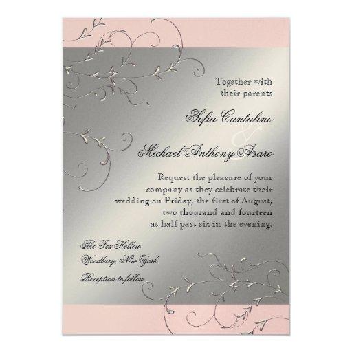 Silver Wedding Gift Experiences : Black Tie Elegance, Silver Wedding Invitations Zazzle