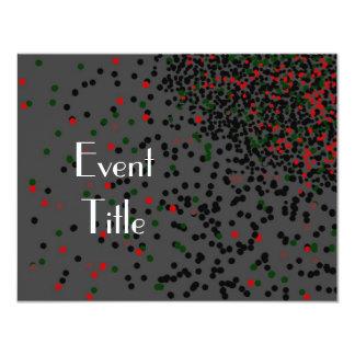 Black Tie Event Black and white 4.25x5.5 Paper Invitation Card