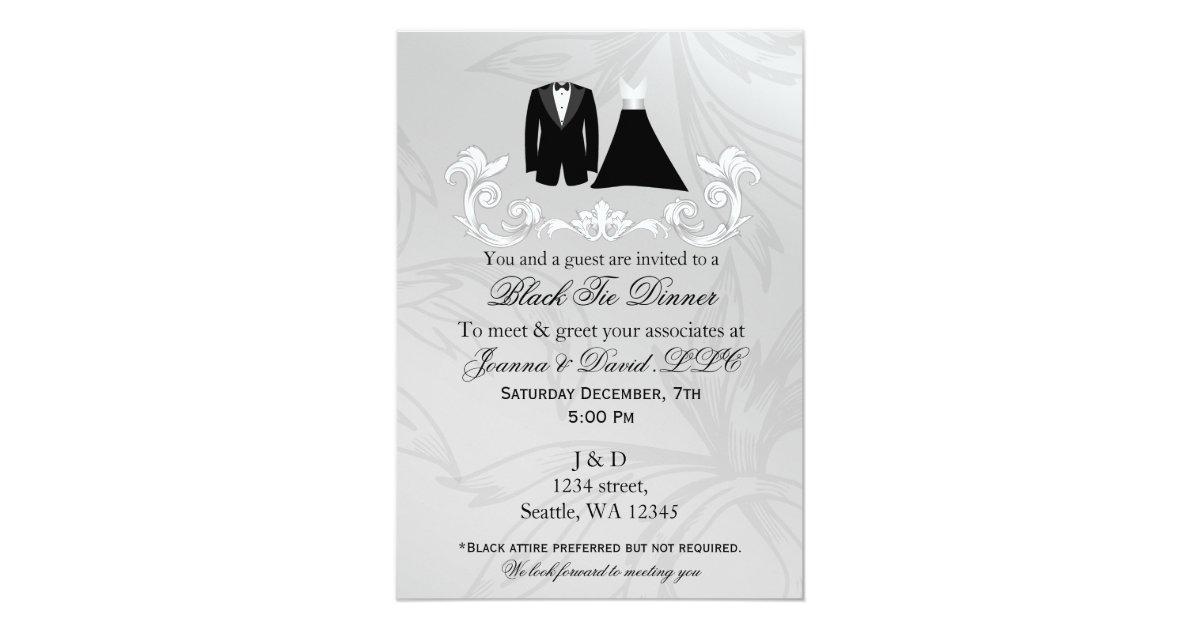 Black Tie Event Corporate party Invitation