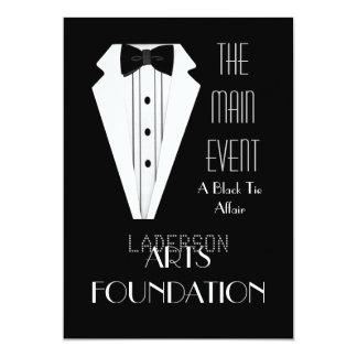 Black Tie Formal Event 5x7 Paper Invitation Card