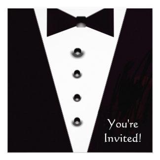 Black Tie Formal Event Invitation
